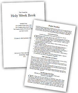Interior pages of the Holy Week book